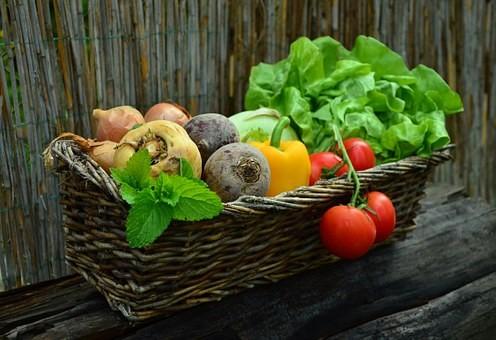 Korb Gemüse